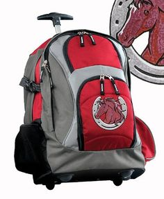 ec52ec62b64 Horse Theme Rolling Backpack Deluxe Red Horse design - Best Backpacks Bags  with Wheels or School