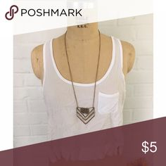 White croptop This white croptop is a basic must have! It's made of a soft and breathable fabric that is great for the summer but the coverage that is still acceptable for the spring and fall. The front pocket also adds a unique touch to make your basic tank not so basic. The length is that of an average croptop (just at the belly button) Forever 21 Tops Tank Tops