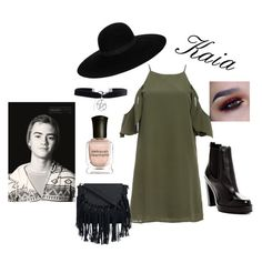 """""""Kaia's date with Jack J"""" by jbird5601 ❤ liked on Polyvore featuring DailyLook, Maison Michel, Diesel, Boohoo and Deborah Lippmann"""