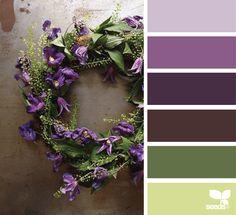 Color palette { wreath hues } image via: @aquietstyle