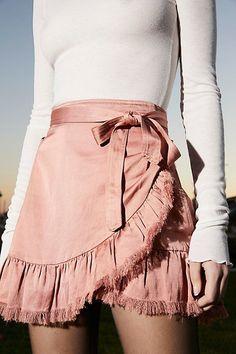 Foldover skirt.