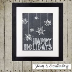 Peace on Earth Chalkboard Print Wall Décor by StoryIsEverlasting
