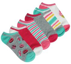 Capelli New York Sweet Milk Shake 6 Pack No Show Socks #backtoschool #backtostyle