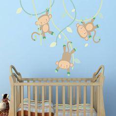 Swinging Monkey Wall Stickers
