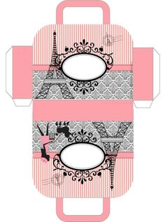 Paris themed free printable gift box/bag