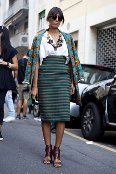 Stella Jean on the streets of #MFW #SS15