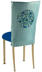Bunya Turquoise Chameleon Chair Back with Stones allows for a very modern, clean and sleek look but with a bit of flair.  The jewel motif is created from over 100 gemstones and adds just the right touch of elegance to make this chair a sophisticated accent for an intimate gathering at a beach house to a glamorous black tie soiree.