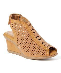 9f27bcb6b99d2a Serene Island Shikine Womens Fashion Wedge Sandals Cognac Size 6 US      Learn more