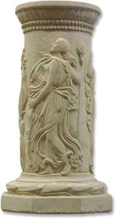 Dancing Muse Pedestal Perfect for Displaying Sculptures, Statues, Figurines and Urns available at AllSculptures.com