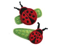 Hey, I found this really awesome Etsy listing at https://www.etsy.com/listing/106143953/no-slip-felt-hair-clips-ladybugs