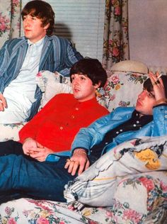 Richard Starkey, Paul McCartney, and John Lennon (relax & take a load off..)