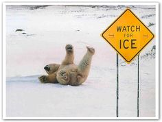 Watch out for ice!