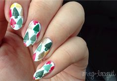 {mrcandiipants inspired Christmas trees!}  So, I've been MIA for awhile. I've been sick! As a result I haven't been able to do as much holiday nail art like I wanted to.  I loved Candice's Christmas trees mani. I wanted to give them a try. Hers are definitely better but I do love the look of them. They're so cute! Used some textured polishes to add a little dimension to them.