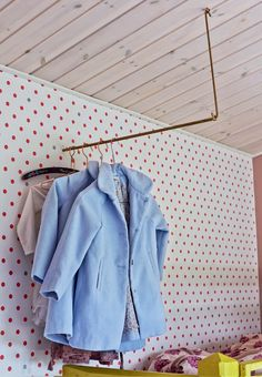 To hang clothes on. Idea by www.oje-blik.dk