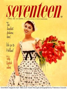 1956 Swing dance dress. Bad hair, hate gloves, but LOVE dress for that retro thing. Tulips so pretty.
