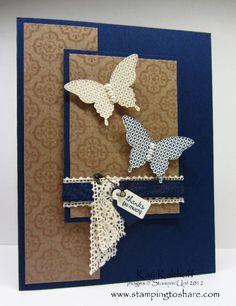 Papillon Potpourri Thanks - love the ribbon over lace - cute!
