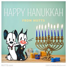 A very happy #Hanukkah to all that are celebrating! #MUTTScomics