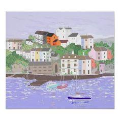 Brixham Harbour Impressionism Art Posters