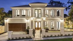 EUROPEAN design and traditional Asian building systems combine to deliver serious modern luxury at this new Monash stunner. - Luxury Homes Luxury Modern Homes, Modern Mansion, Style At Home, French Provincial Home, Facade House, House Facades, House Floor, House Goals, Design Case