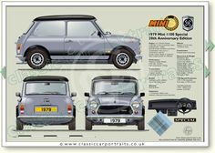 Mini Cooper Classic, Classic Mini, Classic Cars, Retro Cars, Vintage Cars, Morris Oxford, Micro Rc, Mini Morris, British Sports Cars