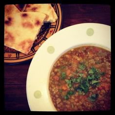 Algerian Cuisine - Shorba Adas (Green Lentil Soup)
