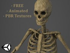 Skeleton - Animated and Low Polygon  A simple skeleton for all your needs!  Features:  - FREE! - Low Polygon Model [~6.8k Tris, ~5.9k] - PBR Textures. - 2K Texture Resolution. - Ready for Unity 4 and Unity 5  - Fully Rigged. - Rigging made to be able to wield your swords and shields! - Fully Animated with 24 animations included.  Feel free to mail us all your questions!