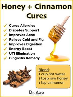 Cinnamon Health Benefits, Nutrition Facts and Side Effects Honey and Cinnamon Benefits and Natural Cures - Dr Axe Natural Health Remedies, Natural Cures, Natural Treatments, Natural Healing, Natural Foods, Herbal Remedies, Natural Cough Remedies, Holistic Healing, Natural Beauty