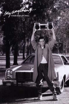 Iconic Image of John Cusack From the Movie 'Say Anything' (1989): Draw or paint this - Perhaps alter it to a recognisable, yet different, image (copyright issues, unless i just sketch/paint this 4 personal use).