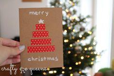 Last-minute Christmas cards for the allround crafter Company Christmas Cards, Christmas Cards To Make, Retro Christmas, Christmas Humor, Holiday Cards, Holiday Gifts, Holiday Ideas, Christmas Ideas, Xmas