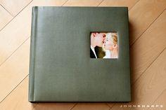 Renaissance Albums - 10x10 Fine Art Album  |  Madison NL - Moss  |  One Image Opening (OP2)  |  25 Pages  |  Source: John Sharpe Photography (http://blog.johnsharpephotography.com/fine-art-wedding-albums/)