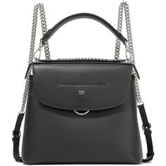 Fendi Back to School large leather backpack (114.950 RUB) ❤ liked on Polyvore featuring bags, backpacks, black, backpack totes, leather handbag tote, leather rucksack, genuine leather backpack and handbags totes