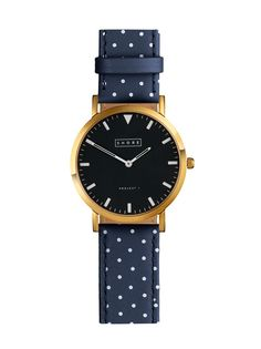 Navy Polka Dot Watch