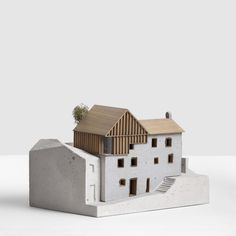 Maquette Architecture, Vernacular Architecture, Architecture Models, Architectural Sculpture, Architectural Drawings, Cardboard City, Log Fires, Arch Model, Model Building