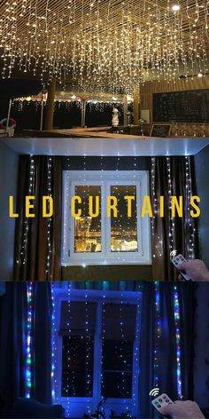 led wedding curtains | LED curtains bedroom | LED Curtains | LED curtains for decoration | #LED curtains | #curtains | #garlands | #cozyatmosphere Flip Clock, Garlands, Curtains, Led, Bedroom, Decoration, Wedding, Home Decor, Wreaths