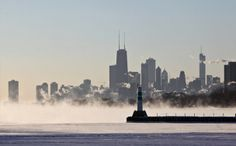 Lake Michigan Winter pictures 2014 Chicago   covers Lake Michigan along the Chicago shoreline Monday, Jan. 6, 2014 ...