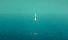 The first stage of SpaceX's Falcon 9 rocket attempts to land on a robotic ship after successfully launching the company's Dragon cargo capsule on April 14, 2015.