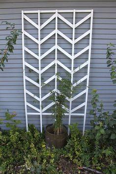 DIY Chevron Garden Trellis
