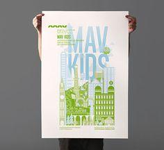 MAV KIDS - Poster Design by Les produits de l'épicerie