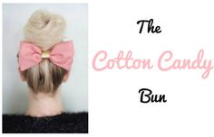 "The ""Cotton Candy"" Bun Who loves cotton candy? I am obsessed with the fluffy, magical stuff. Here is a hair style totally inspired by it! It is fun, flirty, and totally adorable! Here is how YOU can do your very own ""cotton candy"" bun! Tease up some of the hair at the base so that you can give your roots a little vol...  Read More at http://www.chelseacrockett.com/wp/beauty/the-cotton-candy-bun/.  Tags: #Bun, #CottonCandy, #CottonCandyBun, #Hair, #HairIdeas, #HairSty"