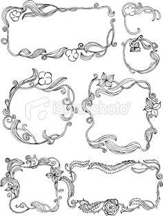 Floral frames Royalty Free Stock Vector Art Illustration
