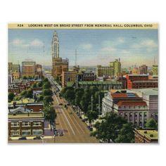 Broad St., Columbus, Ohio Vintage Posters