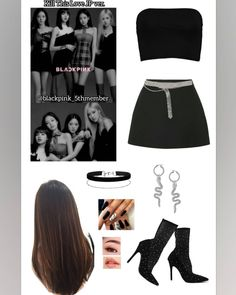 Blackpink Fashion, Kpop Fashion Outfits, Stage Outfits, Korean Outfits, Dance Outfits, Korean Fashion, Crop Top Outfits, Cute Casual Outfits, Chic Outfits