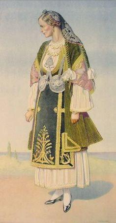 Национальные костюмы разных областей Греции.(фессалия)