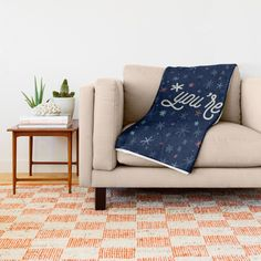 *you're Throw Blanket by Noonday Design | Society6