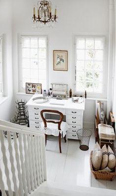 biurko , schody
