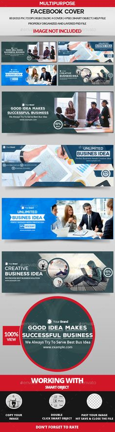 Facebook Cover Templates PSD