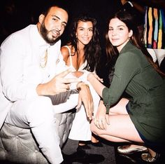 June 21, 2017: Lana Del Rey, Kourtney Kardashian and French Montana at P. Diddy's party #LDR