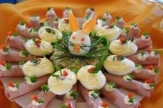Easter Recipes, Appetizer Recipes, Appetizers, Party Food Platters, Creative Food Art, Food Displays, Russian Recipes, Other Recipes, Potato Salad