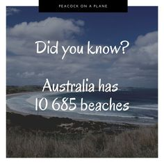 Did you know that Australia has so many beaches? Did You Know, Need To Know, You Are The World, Sustainability, Knowing You, Australia, Beaches, Travelling, Sands