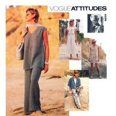 Womens Jacket Tunic Top Skirt & Pants Pattern Vogue 1592 Adri Design